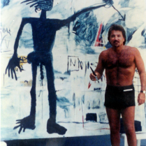 Tony with a Basquiat