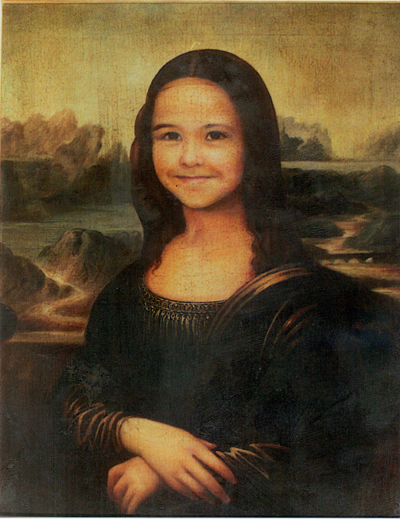 Tony's Granddaughter as the Monalisa